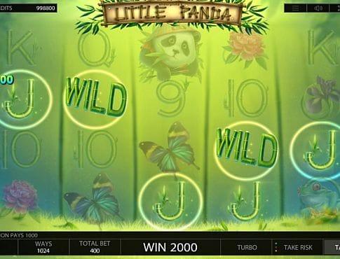 Выигрышная комбинация на линии в автомате Little Panda