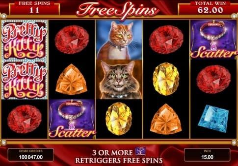 Фриспины и скаттеры в автомате Pretty Kitty