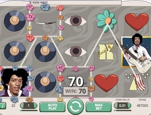 Выигрыш в онлайн автомате Jimi Hendrix