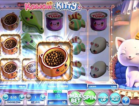 Призовая комбинация на линии в игровом автомате Kawaii Kitty