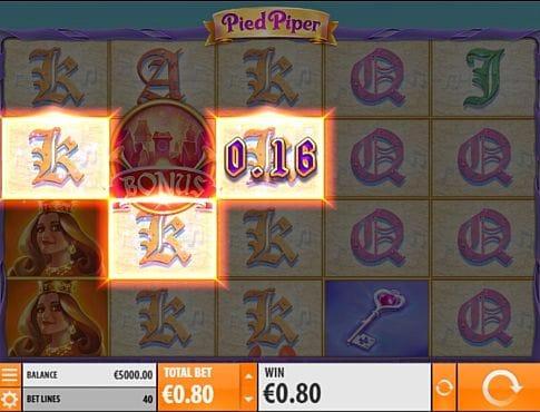 Призовая комбинация символов в игровом автомате Pied Piper