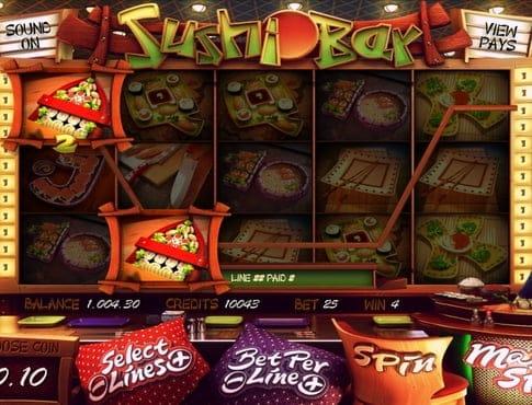 Призовая комбинация символов в игровом автомате Sushi Bar