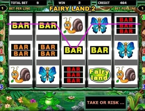 BAR символы в выигрышной комбинации на автомате Fairy Land
