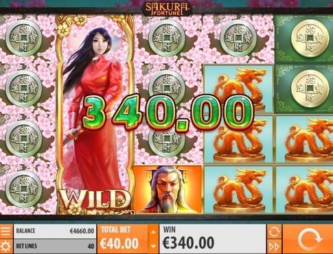 Крупный выигрыш в онлайн автомате Sakura Fortune