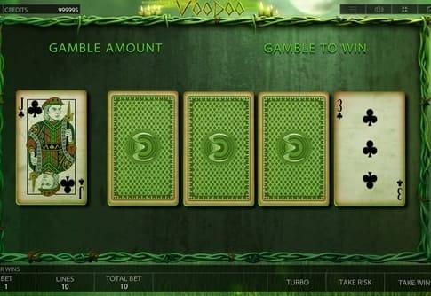 Игра на удвоение онлайн автомата Voodoo